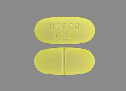 NORCO 539 Norco 325 mg 10 mg 5 1